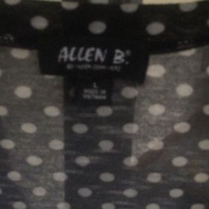 Allen B. By Allen Schwartz Tops - Allen B. Ruched Polka Dot Top M
